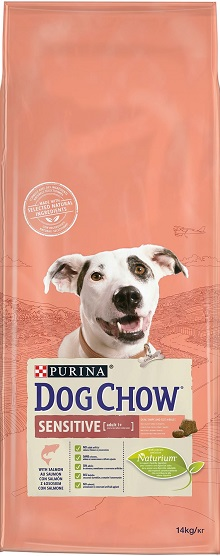 DOG CHOW SENSITIVE AVEC DU SAUMON 14 KG