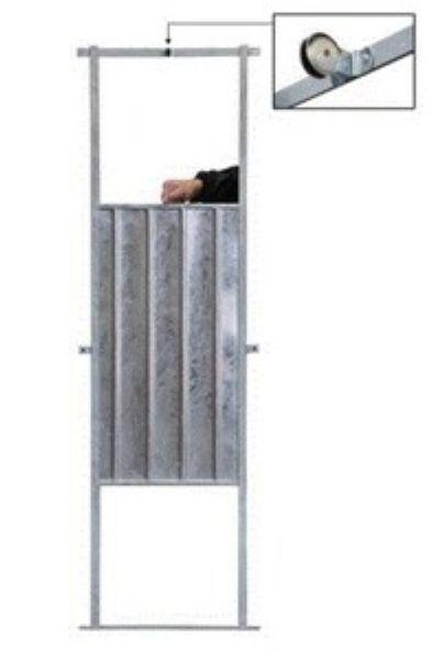 guillotine plaque m tal avec cable 3 m et roue. Black Bedroom Furniture Sets. Home Design Ideas