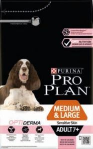 PROPLAN DOG ADULT 7 + MEDIUM & LARGE SENSITIVE SKIN (riche en saumon) 14 KG