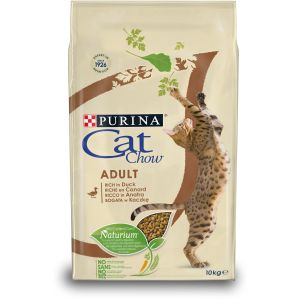 CAT CHOW ADULT RICHE EN CANARD 10kg